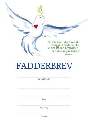 Fadderbrev – duva 1