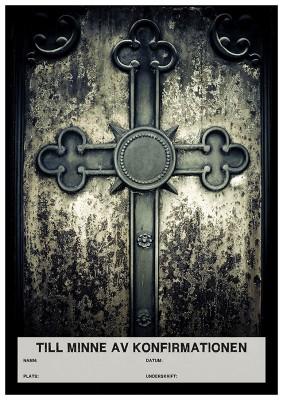 Konfirmandminne – kors svart