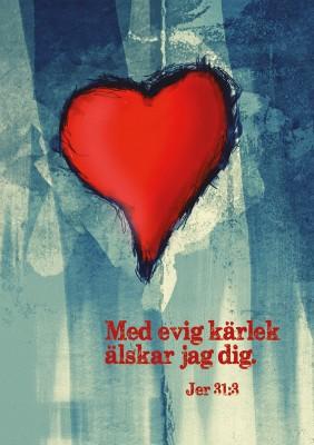 Spiralblock – rött hjärta 1