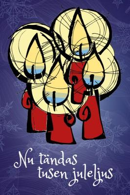Vykort, juleljus 1