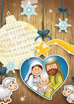 vykort-julhjarta