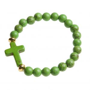Armband kula – kors (grön(