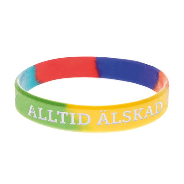 Armband silikon, Alltid älskad regnbåge