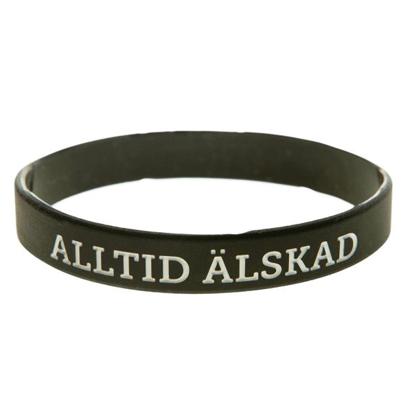 Armband silikon, Alltid älskad svart