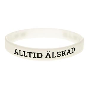 Armband silikon, Alltid älskad vit