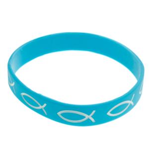 Armband silikon – fisk (turkos)