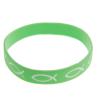 Armband silikon – fisk (grön)