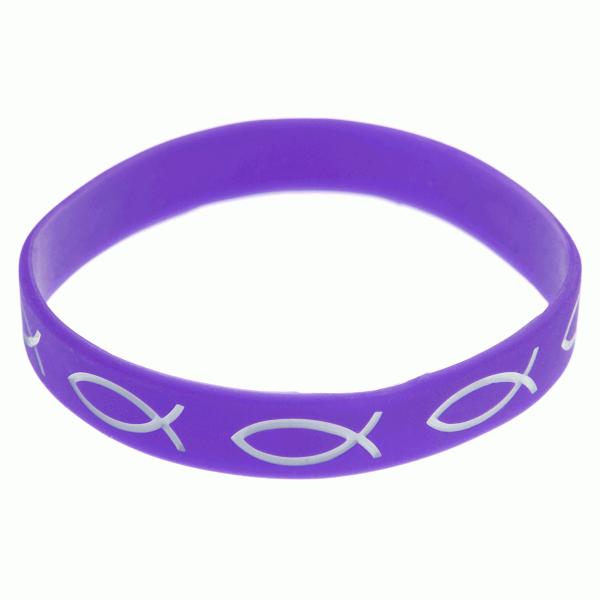 Armband silikon – fisk (lila)
