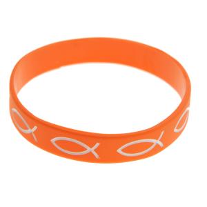 Armband silikon – fisk (orange)