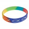 Armband silikon – fisk (regnbåge)