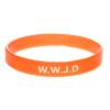 Armband silikon, WWJD orange