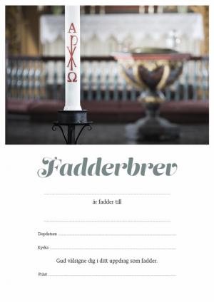 Fadderbrev – dopljus