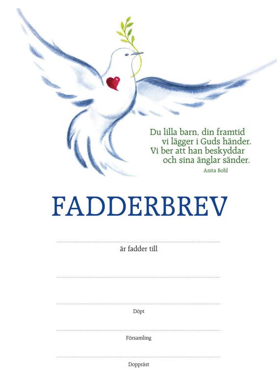 Fadderbrev – duva
