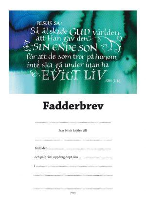 Fadderbrev – Joh 3:16