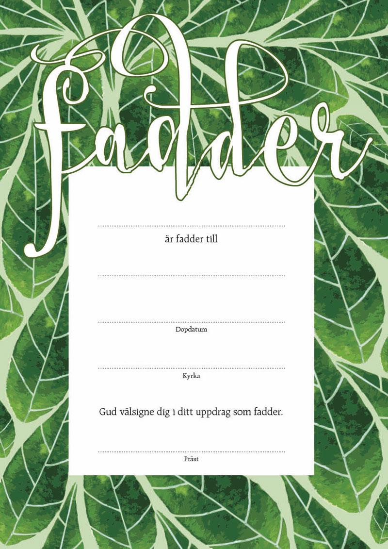 Fadderbrev – löv