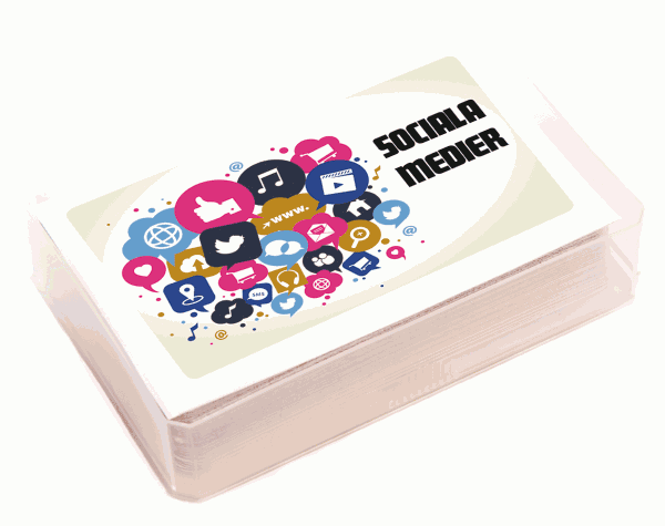 Kortlek – sociala medier