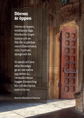 Vykort, dörren